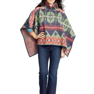 Lauren Ralph Lauren SOUTHWESTERN Wool Poncho